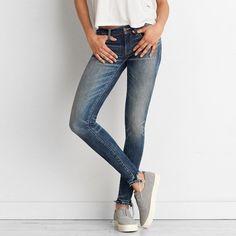 Super Low Jegging ($30) ❤ liked on Polyvore featuring pants, leggings, blue, blue jeggings, stretch denim leggings, denim leggings, jeggings leggings and blue pants