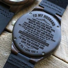 Let your Dad know how much you love him with this unique handcrafted timepiece. The beautiful message carefully engraved on the back of the watch will last forever. Gifts For Fiance, Great Gifts For Dad, Perfect Gift For Dad, Diy Gifts For Boyfriend, Love Gifts, Gifts For Him, Growing Old Together, Wooden Watch, Beautiful Watches