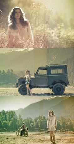 A scrambler, ol' Landy and a smartly dressed girl. What more does a man need?