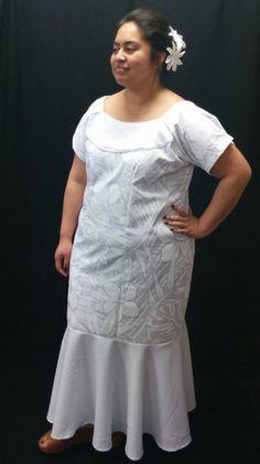 White on White Simple Mermaid Dress