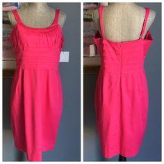 Listing✨ Marc New York Andrew Marc Dress Gorgeous pink dress from Marc New York Andrew Marc .  Pretty details .  Adjustable straps .  Long hidden back zipper .  Made of 98% cotton/2% spandex . Andrew Marc Dresses