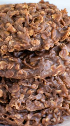 Easy Nutella No Bake Cookies ~ They come together in under 15 minutes... Perfect treat for any time of day or picnics.