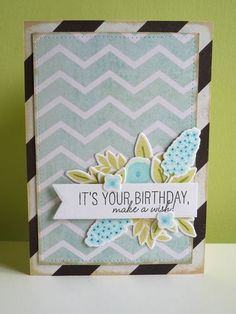 It's your birthday - using Fresh Cut Florals from WPlus9 - koolkittymusings.typepad.com