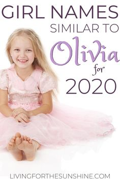 Do you love the name Olivia, but are looking for something that's just a bit different? This list of names that are similar to Olivia will help you find the perfect name for your baby girl! #babynames #names #girlnames #olivia #baby Lovely Girl Names, Cute Baby Girl Names, Vintage Baby Names, Unique Girl Names, Pretty Names, New Baby Girls, Traditional Girl Names, Olivia Name, Old Lady Names