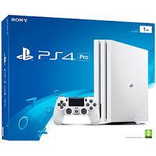 Caja del PlayStation 4 Pro en color blanco