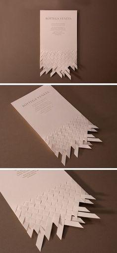 Invitation design proposal for the opening of Bottega Veneta's flagship store in Barcelona. 2012: