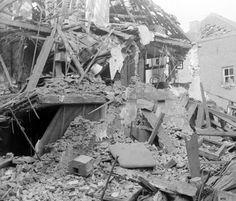 mei 1940, Volderstraatje per ongeluk gebombardeerd door de Engelsen