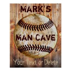 Shop PERSONALIZED Vintage Baseball Man Cave Posters created by YourSportsGifts. Personalize it with photos & text or purchase as is! Masculine Home Decor, Man Cave Posters, Rustic Man Cave, Man Cave Wall Decor, Man Cave Signs, Color Box, Custom Posters, Poster Wall, Wall Signs