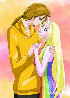Jake and Lady Rainicorn - Adventure Time by Nanaruko.deviantart.com on @deviantART