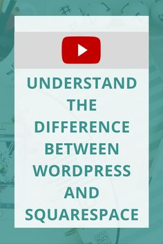 Need to create a website, and not sure what to use? Here's the differences between Wordpress and Squarespace.