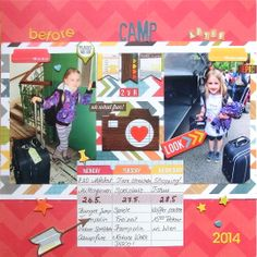 before and after camp - Scrapbook.com - Made with Simple Stories Daily Grind collection.