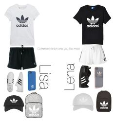 """Lisa or Lena"" by paloma22 ❤ liked on Polyvore featuring beauty, adidas, adidas Originals and Topshop"