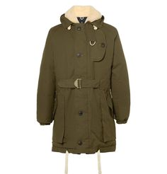 Nigel Cabourn - Antarctic Shearling-Lined Cotton-Canvas Down Parka