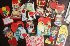 Valentines Day Cards & Kissing Stamps ~ Lot of 12 Unused ~ Vintage ~ Doubl-Glo by smileitsvintage on Etsy