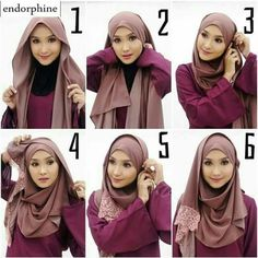 Another style for any event Turban Hijab, Cara Hijab, New Hijab, Tutorial Hijab Segitiga, Tutorial Hijab Modern, Pashmina Hijab Tutorial, Hair Style Vedio, How To Wear Hijab, Hijab Dress Party