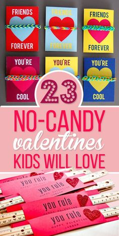 23 No-Candy Valentines Kids Will Love Even More Than Sugar. Free printables.