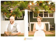 Loulu Palms Wedding    Creatrix Photography #firstlook #reallove #handwritten #laugh