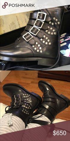 YSL Yves Saint Laurent Ranger Moto Combat Boots Brand New!! YSL Boots 💯 Authentic!! Yves Saint Laurent Shoes Combat & Moto Boots