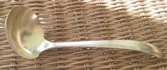 "Oneida Prestige Grenoble 7 1/8"" gravy ladle, Mid century Modern, Silverplate…"