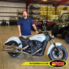 Thanks to Shawn Palmer from Picayune MS for getting a 2016 Indian Scout 60. @HattiesburgCycles
