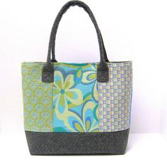 Shoulder Tote Bag Purse Patchwork in Blue and Green | Flickr - Photo Sharing!