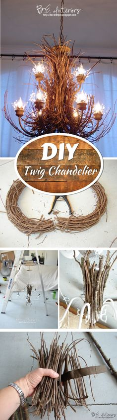 Check out how to make this DIY twig chadelier @istandarddesign