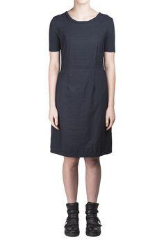 Kristensen du Nord Navy Simple Dress #KristensenduNord #womenswear #SansPeur #Shopafar #LuxuryAustralia #fashion