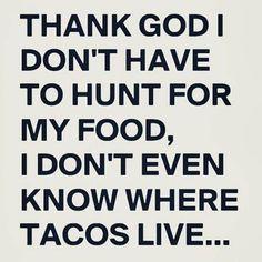 Taco Humor I Donu0027t Know Where Tacos Live