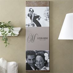 Create your own photo Canvas Collage with your wedding photos! All you have to do is upload your photo  | chiccanvas.com