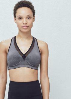 Fitness & running - high impact bra | MANGO