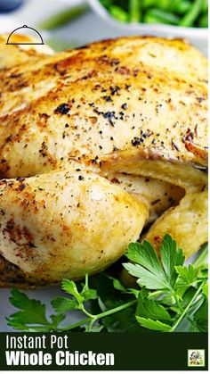 This simple Instant Pot Whole Chicken recipe is perfect for dinner. Pressure cooker cook times for frozen chicken included. Keto, low carb, paleo, and gluten free. Instapot Recipes Chicken, Healthy Chicken Recipes, Easy Healthy Recipes, Paleo Recipes, Instant Pot Whole Chicken Recipe, Healthy Family Dinners, Clean Eating Chicken, Stuffed Whole Chicken, Pressure Cooker Recipes
