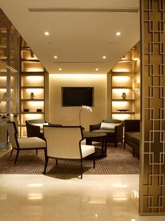 soft warm lighting and polished floors - Ryan Partners - Robarts Interiors and Architecture
