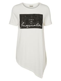 Loose fit asymmetric t-shirt from Noisy may