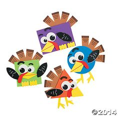 Shape Turkey Craft Kit, Coloring Crafts, Crafts for Kids, Craft & Hobby Supplies - Oriental Trading Baby Crafts, Toddler Crafts, Fun Crafts, Arts And Crafts, Animal Crafts For Kids, Children Crafts, Adult Crafts, Summer Crafts, Thanksgiving Art