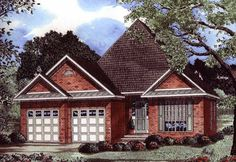 Eplans Cottage House Plan - Striking Roofline - 1480 Square Feet and 3 Bedrooms from Eplans - House Plan Code HWEPL12789