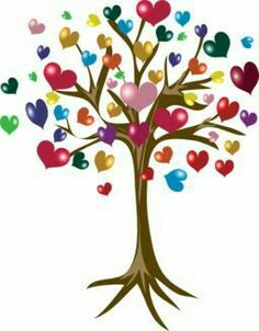 Tree of hearts Heart Tree, Heart Day, I Love Heart, Happy Heart, Peace And Love, Sweet Trees, Angel Art, Felt Hearts, All You Need Is Love