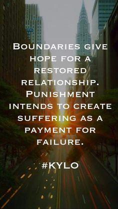 Boundaries vs Punishment