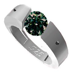 #jewelry 1.40.ct vs2/BROWN GREEN REAL MOISSANITE& NATURAL BLACK DIAMOND.925 SILVER RING please retweet