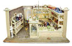 De Kleine Wereld Museum of Lier: 182 German Wooden Glass and Porcelain Shop with Unusual Curio Cabinet