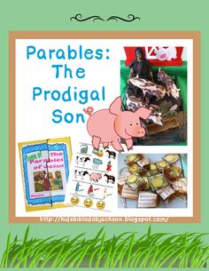Parable of the Prodigal Son - lots of Sunday School lesson ideas, lessons, etc. Preschool Bible Lessons, Bible Lessons For Kids, Bible For Kids, Bible Story Crafts, Bible Stories For Kids, Kids Sunday School Lessons, Sunday School Crafts, Bible Parables, Prodigal Son