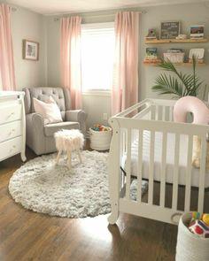 Baby Room Themes, Baby Girl Nursery Themes, Baby Boy Rooms, Baby Room Decor, Nursery Ideas, Girl Nurseries, Small Baby Nursery, Modern Nurseries, Neutral Nurseries