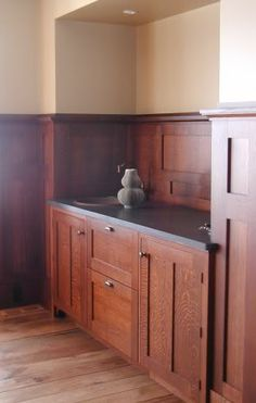 I am off on a wild hair here about frameless inset cabinets, but cannot find photographs of kitchen cabinets like this. I have a small kitchen and would like frameless but also really want inset doors and drawers. My buffet is like this, but I can't find any kitchens set up this way. I'm not going t...
