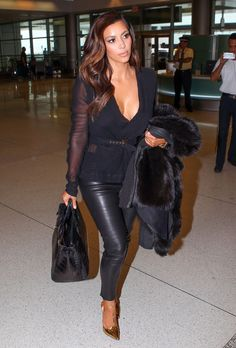 wish i could look this fab at the airport