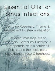 Natural Remedies For Sinusitis Easy go-to: Essential Oils for Sinus Infections. Essential Oils Sinus, Essential Oil Diffuser Blends, Essential Oil Uses, Natural Essential Oils, Natural Oils, Young Living Oils, Young Living Essential Oils, Young Living Cough, Aromatherapy Oils