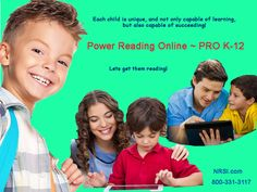 Let's make them readers!! Power Reading Online ~ PRO K-12 works fast and is easy to use!  Kids love our high-interest, specially recorded short stories!  Teachers appreciate PRO's easy management and report generator!  Everyone loves the affordable price!  Sign up today for your free PRO trial!