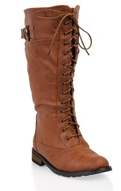 tan wide width lace up #combat #boots  $45.50