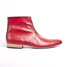 red leather beatle boots buffalo 66 Vincent Gallo by goodbyefolk, $280.00