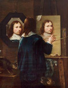 Johannes gumpp - Self-portrait - Johannes Gumpp, 1646, shows how most self-portraits were painted