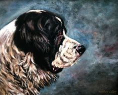 #Newfoundland #Newfie #NewfoundlandArt Newfoundland, Dogs, Painting, Art, Art Background, Pet Dogs, Painting Art, Kunst, Newfoundland Dogs