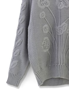 K.N.I.T... Grey ...Embroidered Love